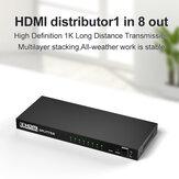 Bakeey HDMI عالي الوضوح صوت فيديو Splitter محول 1080P عالي الوضوح محول مع إخراج 8 * HDMI/1 * HDMI إدخال لتلفزيون Nootebook DVD Player