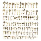 128 Pcs Chave de Bronze Do Vintage Para Pingente Colar Pulseira DIY Acessórios Artesanais Decorações