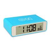 LEDTouchLuminosoDigitalelettronicocreativo Night Light Flip Snooze Meccanico Sveglia da tavolo Intelligente Digital Alarm Clock Orologio da tavolo Orologio elettronico Top Touch Sensor Digital Alarm Clock D