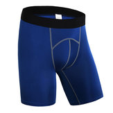 Pro Mens Sports Running Фитнес Быстрое высыхание Breathable Tight Shorts Фитнес Брюки