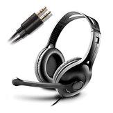 אוזניות סטריאו אוזניות סטריאו עבור מחשב נייד עם מיקרופון