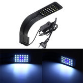 10W 24 LED Aquarium Lamp Fish Tank Water Plant Clip Light AC220V