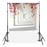 Durable Large Photographic Cloth Flower White Corridor Cloth Vinyl Photography Backdrop Tapestry For Home Decoration