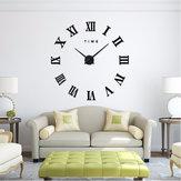 Design moderno FAI DA TE Grande decorativo 3D orologio da parete Reloj Pared Adhesivo numeri romani specchio grandi orologi adesivi orologi