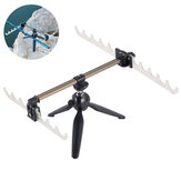 Fishing Rod Bracket Rotation Adjustable Telescopic Aluminum Tripod Fishing Pole Holder Luminous Fishing Tackle