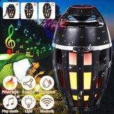 Bluetooth-Außenlautsprecher LED Flammenlicht Tischlampe Taschenlampe Atmosphäre Helles Nachtlicht DC5V