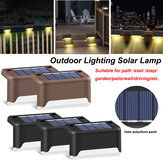 Outdoor LED Solar Lawn Light Warm White Path Stair Waterproof Wall Garden Landscape Lamp