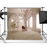 10x10FT branco piano quarto tema rosa fotografia pano de fundo estúdio prop fundo
