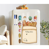 Magnet Drawing Toys Writing Message Board with Pen Boards Memo Plan List Menu Magnetic Whiteboard for Fridge