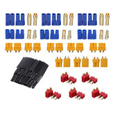 29Pcs URUAV T XT60 XT30 EC3 EC5 Male Female Plug Adapter Connector with 127Pcs Heat Shrink Tube Kit