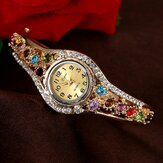 LVPAI XR1959 Fashionable Rhinestone Ladies Gelang Watch