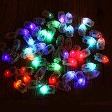 50 sztuk / partia lamp LED światła balon na papier latarnia balon Multicolor Christmas Party Decor