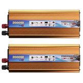 Solar Power Inverter 2000W 12/24V DC To 220V AC USB Wave Converter