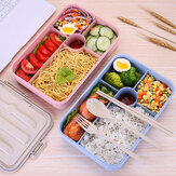 5 Grids Microwave Heating Lunch Box Bento Box Food Fruit Storage Container Refrigerator Fresh Box Pink/Blue