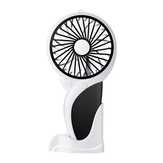 Well Star WT-N10 Handheld Mini USB Woodpecker Fan with Base LED Light Lamp Fan Rechargeable Air Cooler Silent Cooling Fan For Home Office Student Dormitory Outdoors Travelling