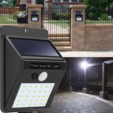 Solar القوة 30 LED PIR Motion المستشعر Wall ضوء ضد للماء Outdoor Outdoor Yard Garden Security Lamp