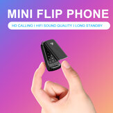 Ulcool F1 Smallst Flip Phone 600mAh Bluetooth Dialer FM Portable Pocket Mini-Kartentelefon