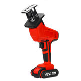 42V 1400W Electric Cordless Reciprocating Saw Outdoor Woodworking W/ 2 Battery