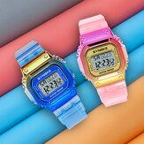 SYNOKE 9622 Kleurverloop Horlogekast Mode-stijl Dames Heren Lichtgevend scherm Koppel digitaal horloge