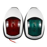 Pair LED White 12V Marine Boat Yacht Starboard Port Bow Navigation Signal Lights Lamps