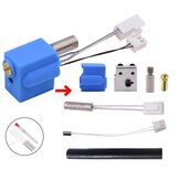 Creativity® Nozzle Hotend Silicone Sleeve Throat Handle Thermistor Heating Pipe Heated Block Kit