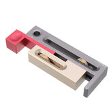 Drillpro Table Saw Slot Ajustador Mortise and Tenon herramienta Bloque de medición móvil para carpintería