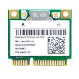 3000M PCIe WiFi 6 Card Внутренняя беспроводная карта адаптера Wifi с bluetooth5.1 Двухдиапазонная 5G Intel AX200 Chip MU-MIMO Network Card
