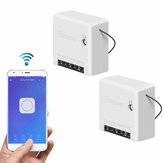 2 Stück SONOFF Mini-Zweiwege-Smart-Switch 10A AC100-240V Funktioniert mit Amazon Alexa Google Home Assistant Nest unterstützt den DIY-Modus Ermöglicht Flash die Firmware