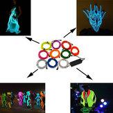 1m 10 colori 12v neon flessibile el filo luce decorazioni sobrie dance party