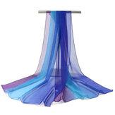 Donne Soft Sciarpe in chiffon con parasole per esterno