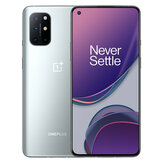 OnePlus 8T 5G Global Rom NFC Android 11 12 Go 256 Go Snapdragon865 6,55 pouces FHD + HDR10 + 120Hz Écran Fluid AMOLED 48MP Quad Camera 65W Warp Charge Smartphone