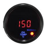 2 Pollici 52mm 20-140 ℃ Olio Misuratore di temperatura digitale LED Display Misuratore per auto con faccia nera con sensore