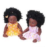12 pouces Simulation Soft Silicone vinyle PVC noir bébé mode poupée pivoter 360 ° fille africaine parfait Reborn poupée jouet pour cadeau d'anniversaire