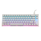 GamaKay K66 Mekanik Klavye 66 Tuşlar Gateron Anahtarı Sıcak Değiştirilebilir Tyce-C Kablolu RGB Arkadan Aydınlatmalı Oyun Klavye PC Laptop için Kristal Tabanlı