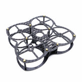 Exuav 90mm Wheelbase 1.5mm Thickness Carbon Fiber FPV Racing Frame Kit 31g support Runcam Micro Swift