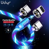 Udyr Magnetic Flowing Light LED Type-C / Micro USB Cable for iPhone 12 Pro Max for Samsung Galaxy Note S20 ultra for Xiaomi Mi 10 POCO X3 NFC