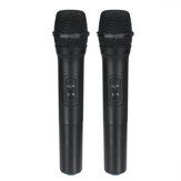 2Pcs VHF Wireless بلوتوث Karaoke Microphone Speaker 2 Portable MIC KTV Player