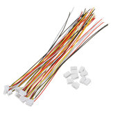 Excellway® 10 sets Mini Micro JST 1.5mm ZH 4-pins connectorstekker met dradenkabels 150mm