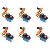 6PCS MG90D 13g Metal Gear digitale servo voor RC-modellen