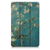 Tri-Fold Pringting Tablet Case Cover voor Samsung Galaxy Tab A 8.0 2019 SM-P200 P205 Tablet - Apricot Blossom
