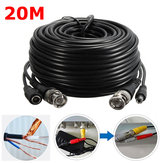 65Ft 20M Bezpečnostní kamera Kabel Video Extension Wire CCTV DVR BNC RCA kabel