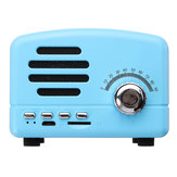 Caricabatterie USB vintage retro mini FM Radio wireless bluetooth TF card
