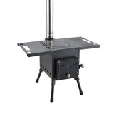 IPRee® Outdoor Houtkachel Roestvrijstalen Barbecue Grill Draagbare Opvouwbare Camping Picknick Oven