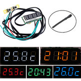 0.28 Inch 3-in-1 Time + Temperature + Voltage Display with NTC DC7-30V Voltmeter Electronic Watch Clock Digital Tube