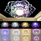 220V Modern Crystal LED Ceiling Lighting Living Room Home Square Chandeliers