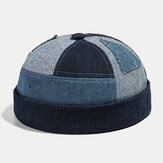 Collrown Men's Landlord Hat Summer Street Trends Melon Cap Denim Brimless Hats