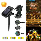 12M 8 Mode solare Powered 100LED String Light Waterproof Rame Wire Fairy Outdoor Garden Clip Yard Lawn lampada