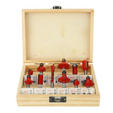 12Pcs Tungsten Carbide Router Bit Set 1/4 or 1/2 Inch Milling Cutter Woodworking Trimmer Tool