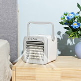 Mini Air Cooler Fan Portable Quiet Cooling Heating Mode Compact USB Charging Cooling Fan Personal Small Floor Office Home Whole Room Air-Conditioner