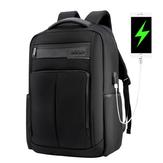 ARCTIC HUNTER B00121C 18 İnç Laptop Sırt Çantası USB Şarj Dizüstü Çanta Erkek Omuz Çanta Iş Rahat Seyahat Sırt Çantası Kore Tarzı Sırt Çantası